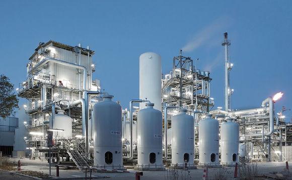 Almacenamiento de gas industrial